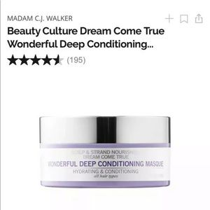 Madam CJ Walker Deep Conditioning Masque Rare Find